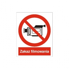 Znak 14 Zakaz filmowania 225x275 PB