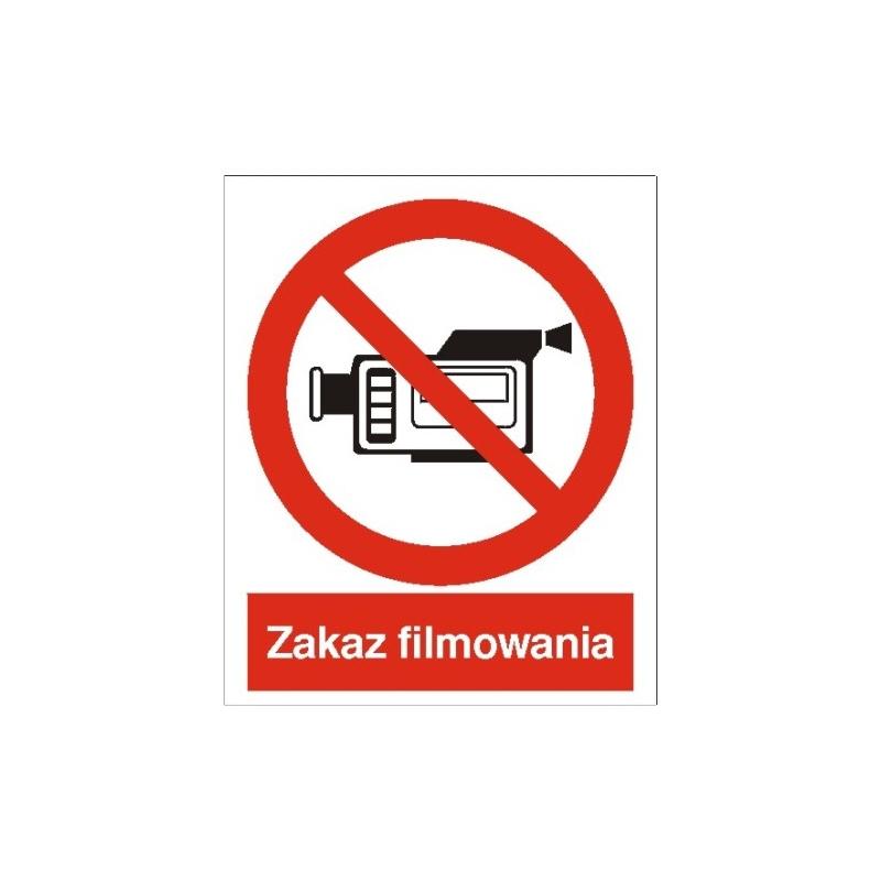 Znak Zakaz filmowania 225x275 PB