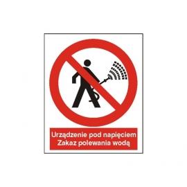 Znak 14 Zakaz polewania wodą 225x275 PB