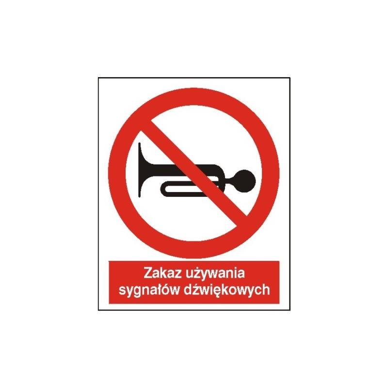 Znak Zakaz używania sygnałów dźwiękowych 225x275PB