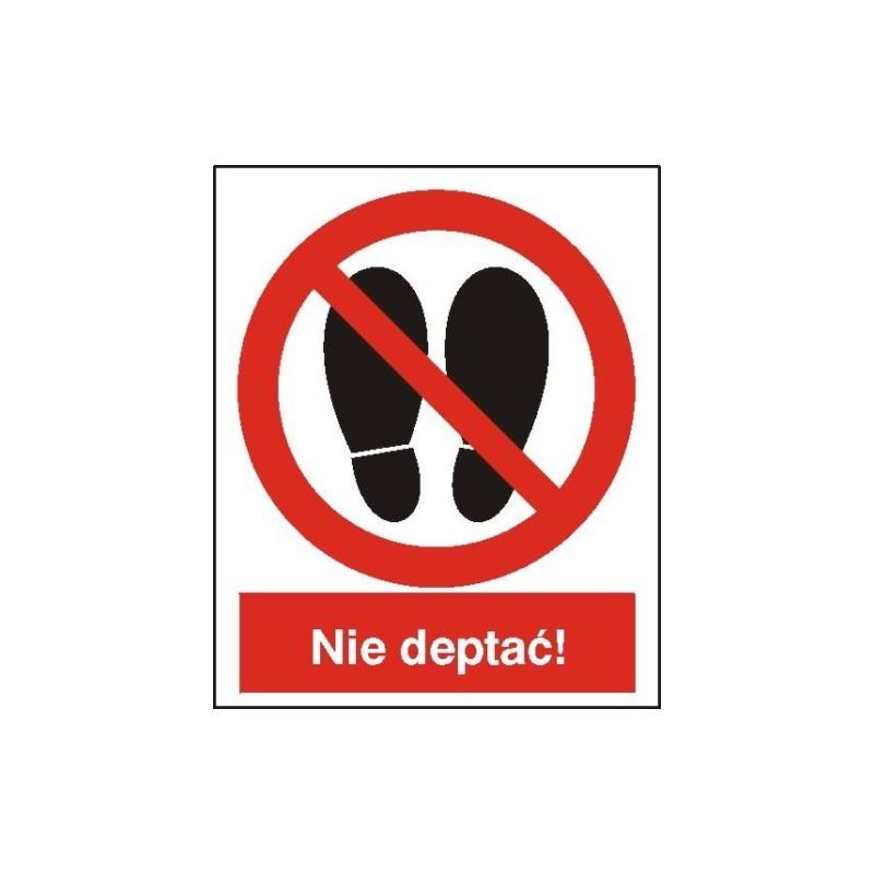 Znak Zakaz deptania 225x275 PB