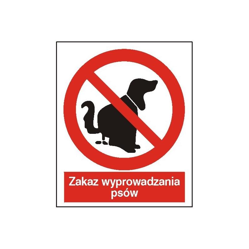 Znak Zakaz wprowadzania psów 225x275 PB