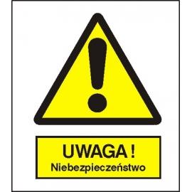 Znak 15 Uwaga niebezpieczeństwo 225x275 PB
