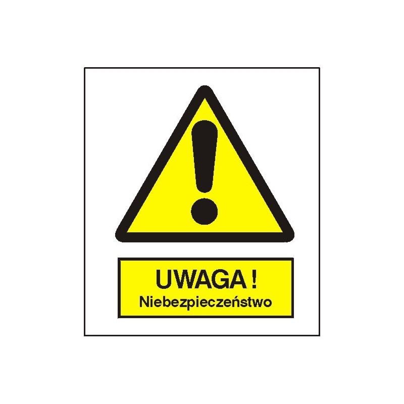 Znak Uwaga niebezpieczeństwo 225x275 PB