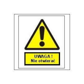 Znak Uwaga nie otwierać 225x275 PB