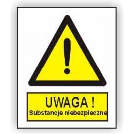 Znak 15 Uwaga Substancje niebezpieczne 225x275 PB