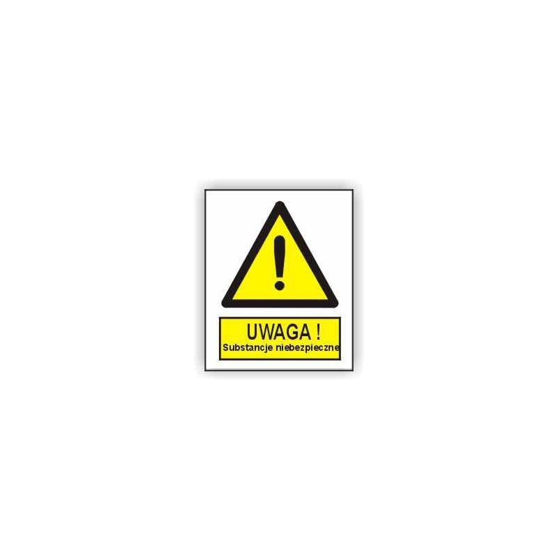 Znak Uwaga Substancje niebezpieczne 225x275 PB