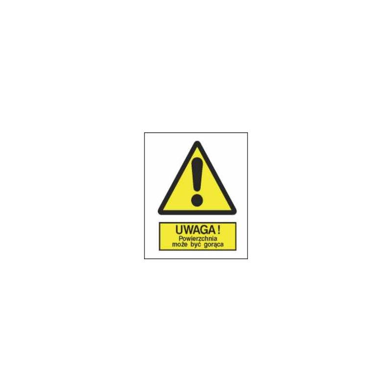 Znak Uwaga powierzchnia może być gorąca 225x275 PB