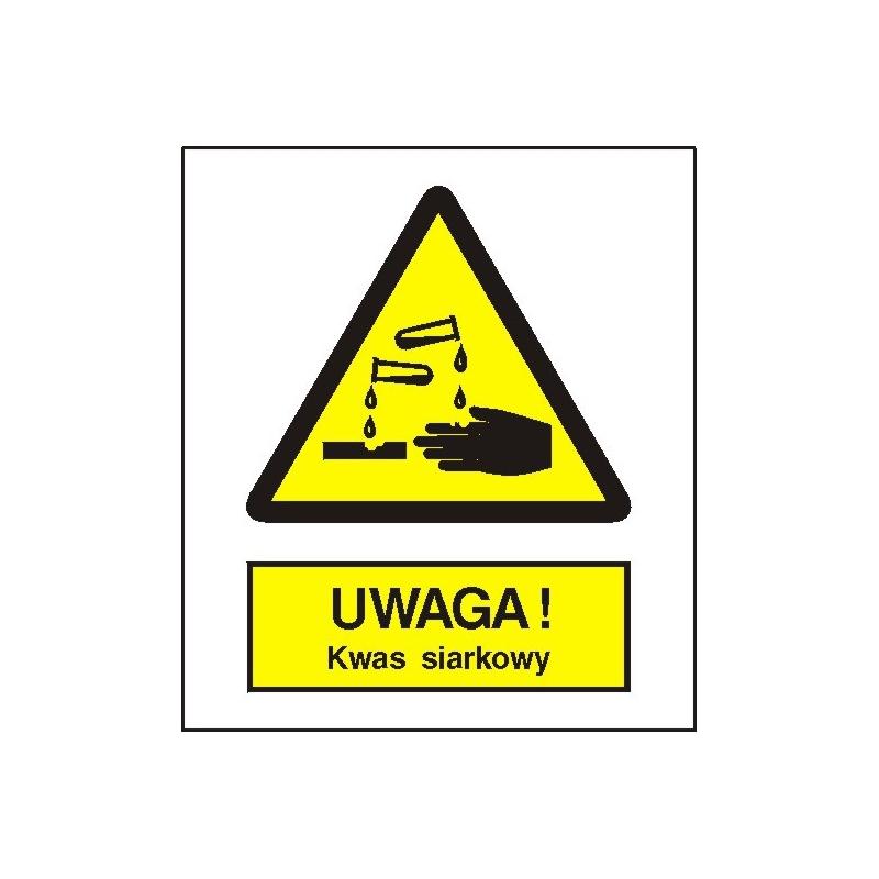Znak Uwaga Kwas Siarkowy 225x275 PB