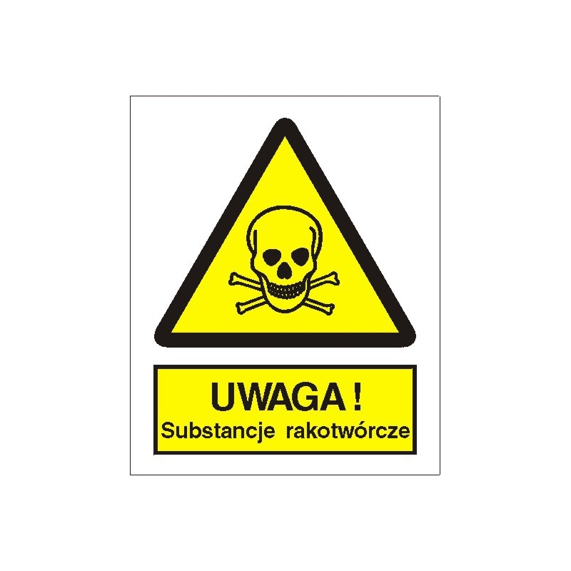 Znak Uwaga substancje rakotwórcze 225x275 PB