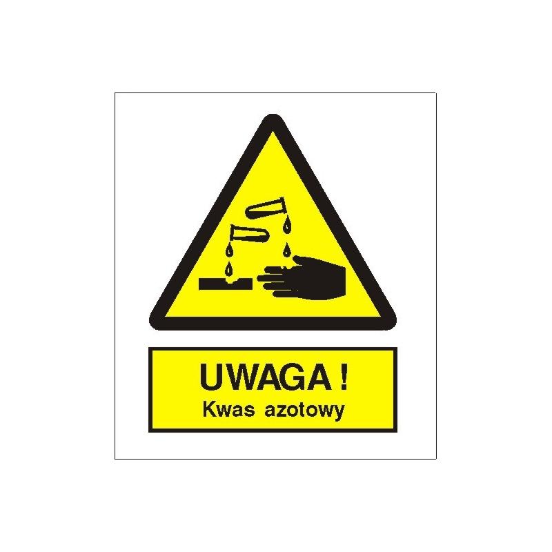 Znak Uwaga kwas azotowy 225x275 PB