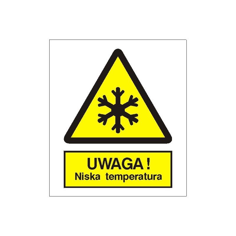 Znak Uwaga niska temperatura 225x275 PB