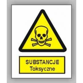 Znak 15 Uwaga Substancje Toksyczne 150x200 PB