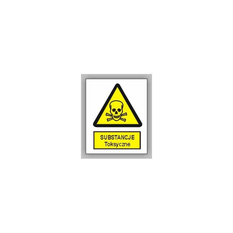 Znak Uwaga Substancje Toksyczne 150x200 PB