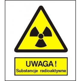 Znak 15 Uwaga subtancje radioaktywne 225x275 PB