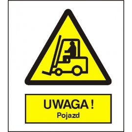 Znak 15 Uwaga pojazd 225x275 PB