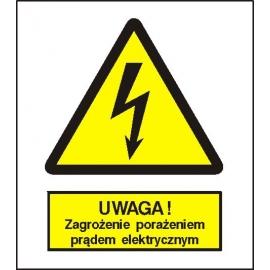 Znak 15 Uwaga porażenia prądem elektryczn225x275PB
