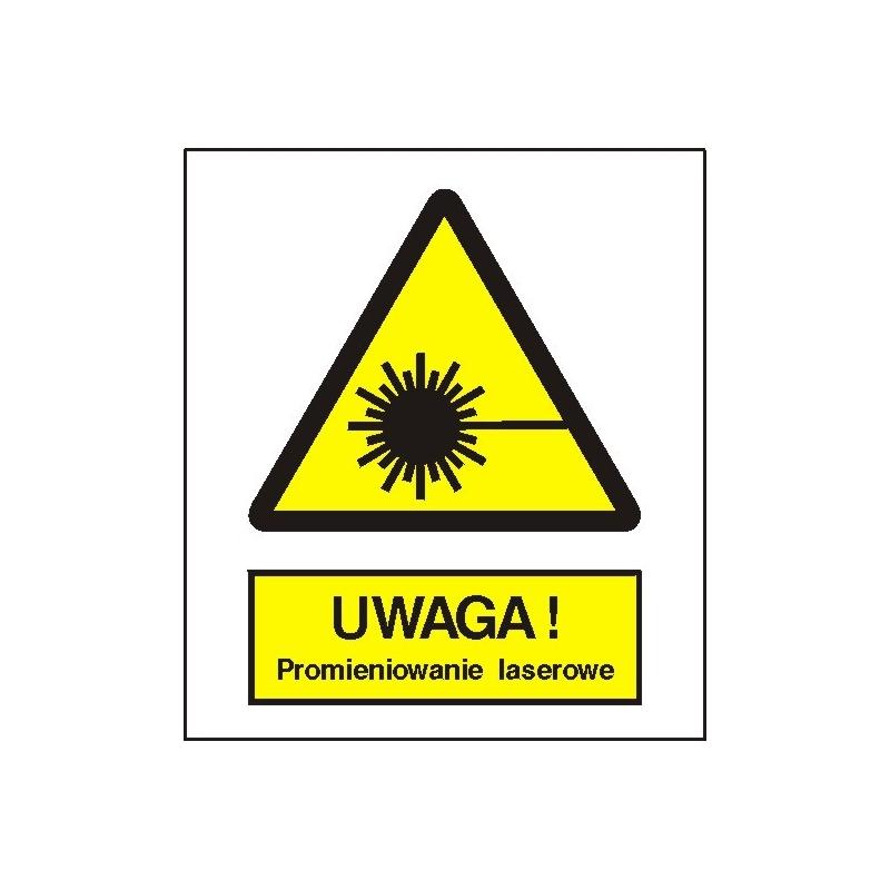 Znak Uwaga Promieniowanie laserowe 225x275 PB