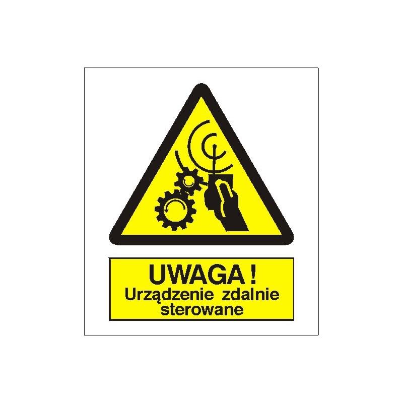 Znak Uwaga Urządzenie zdalnie sterowane PB