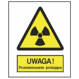 Znak 15 Uwaga Promieniowanie jonizujące 225x275 PB