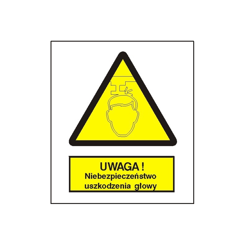 Znak Niebieczeństw uszkodzenia głowy 275x225 PB
