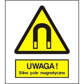Znak 15 Uwaga Silne pole magnetyczne 225x275 PB