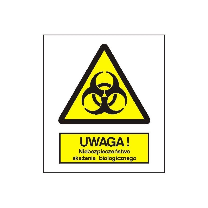 Znak Uwaga niebezpieczeństwo skażenia biologicznego 225x275 PB
