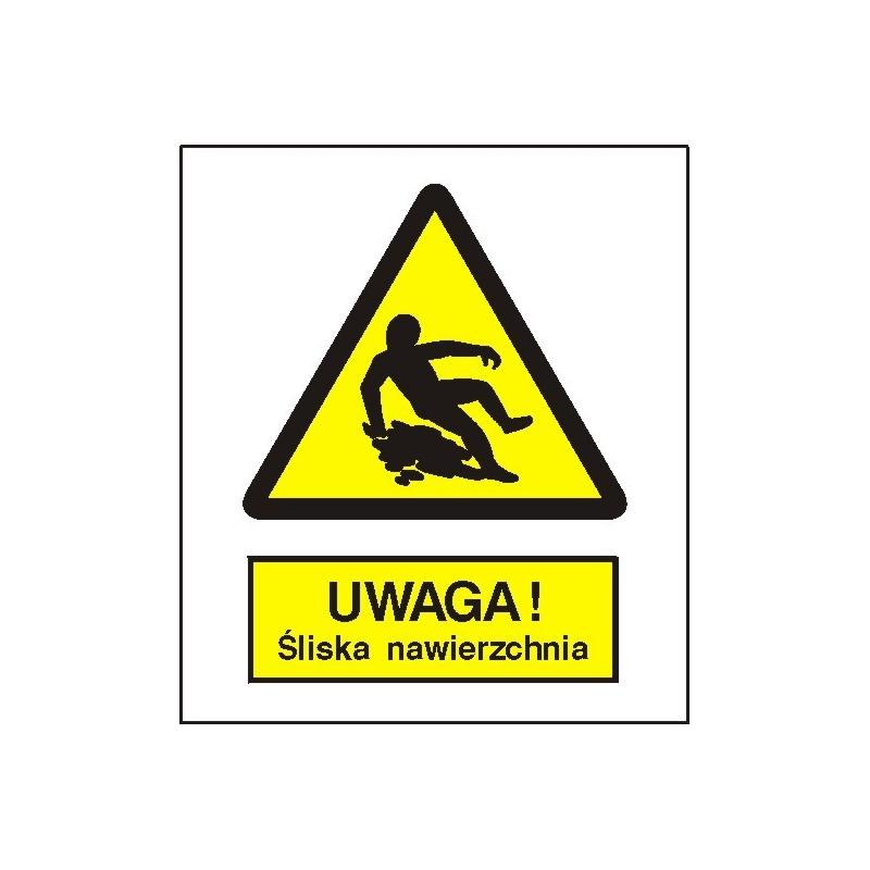 Znak Uwaga śliska nawierzchnia 110x140 FB