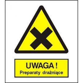 Znak 15 Uwaga preparaty drażniące 225x275 PB