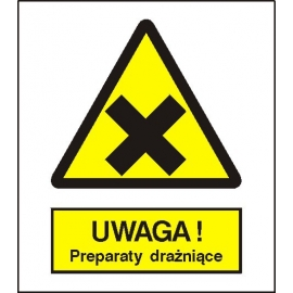 Znak Uwaga preparaty drażniące 225x275 PB