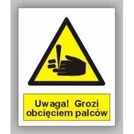 Znak 15 Uwaga! Grozi obcięciem palców PB