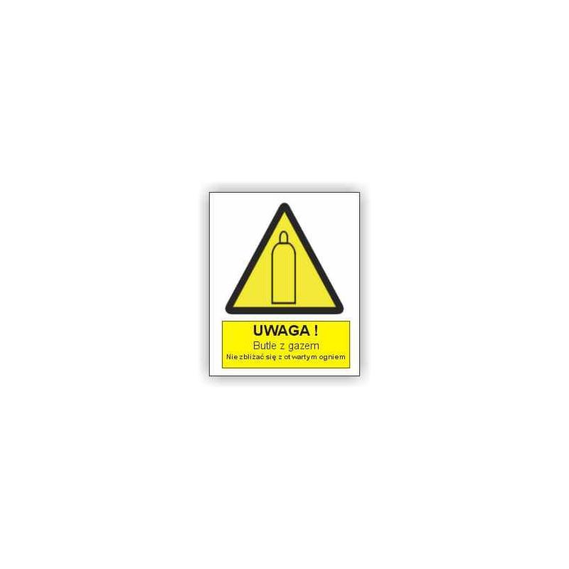 Znak Uwaga butle z gazem 225x275 PB