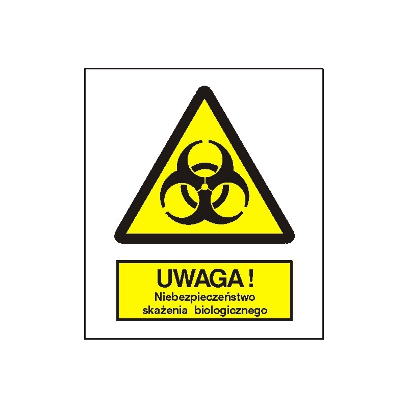 Znak Uwaga niebezpieczeństwo skażenia biologicznego FB