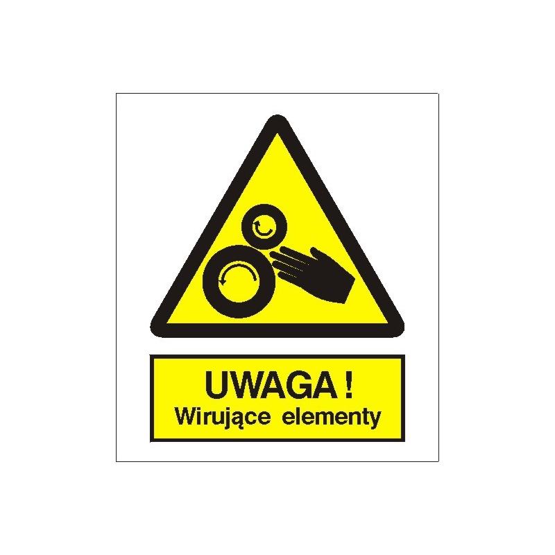 Znak Uwaga Wirujące elementy 225x275 PB
