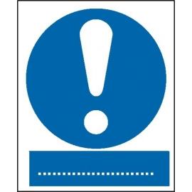 Znak 16 Ogólny znak nakazu 225x275 PB