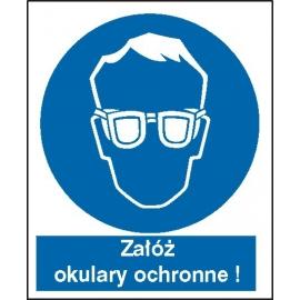 Znak 16 Nakaz stosowania ochrony wzroku PB