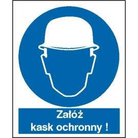 Znak 16 Nakaz stosowania ochrony głowy 225x275 PB