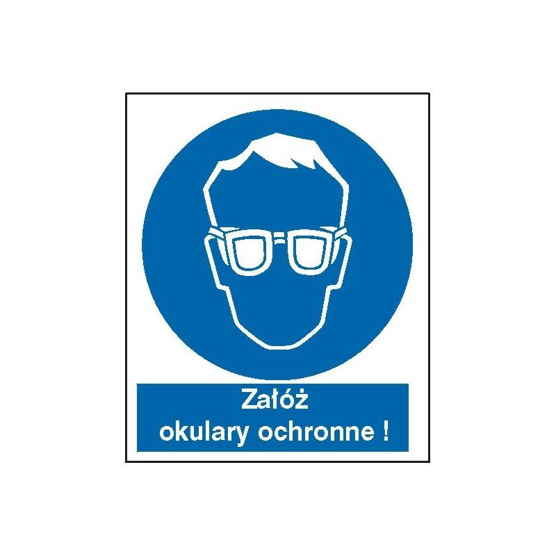 Znak Nakaz stosowania ochrony wzroku FB 110x140