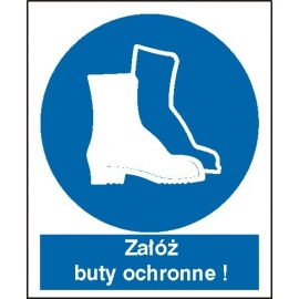 Znak Nakaz stosowania ochrony stóp