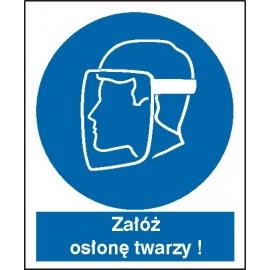 Znak Nakaz stosowania osłony twarzy