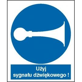 Znak 16 Nakaz używania sygnału PB
