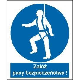 Znak 16 Nakaz używania pasów bezpiecz. PB