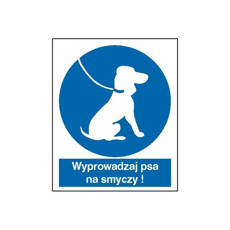 Znak Nakaz wyprowadzania psa na smyczy