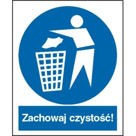 Znak 16 Zachowaj czystość 225x275 PB