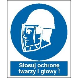 Znak 16 Stosuj ochronę twarzy i głowy 110x140 mm