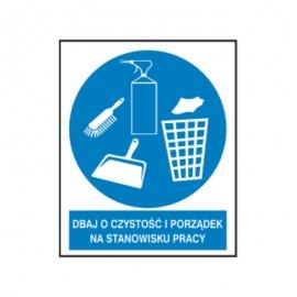 Znak Dbaj o czystość i porządek 225x275 PB