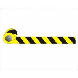 Taśma żółto-czarna 5,0cm przylepna odblask MB