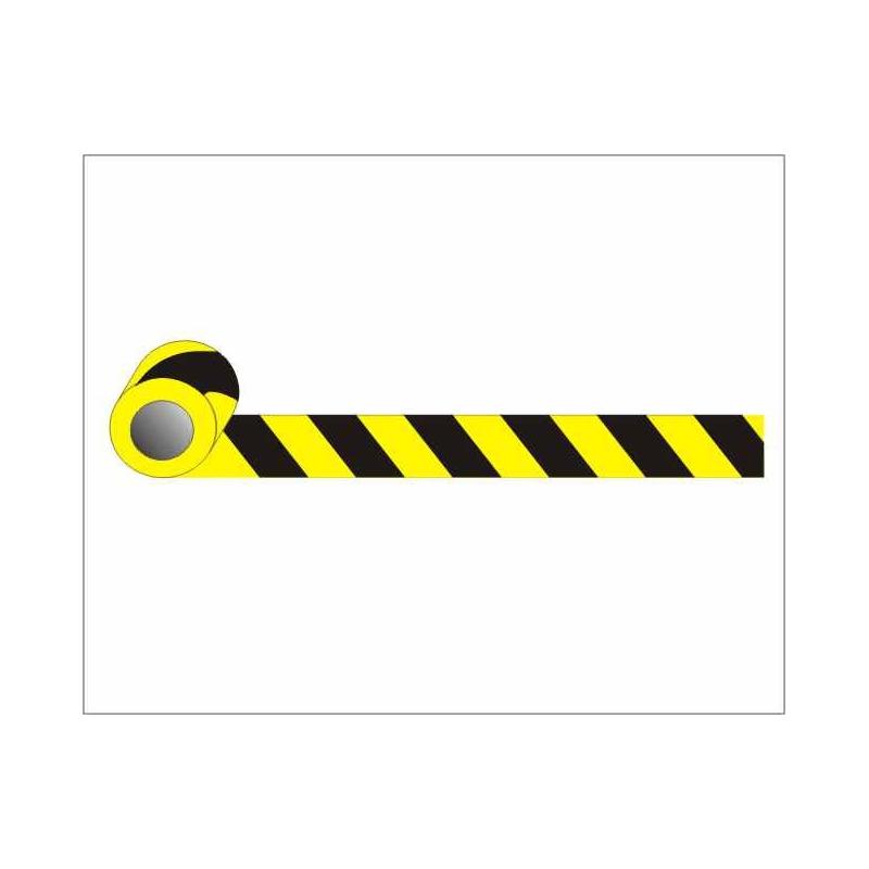 Taśma żółto-czarna   10cm x 25m przylepna
