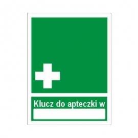 Znak Klucz do apteczki w ... 150x200 PB