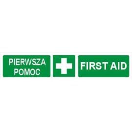 Znak Pierwsza Pomoc (pasek) 200x50 FB